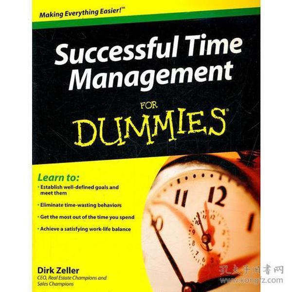 正版包邮n1/Successful Time Management for Dummies/9780470290347/L11-1