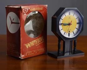 怀旧老物 80年代白鸽牌机械钟
