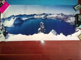 长白山天池雪景(112cm×50.5cm) 彩色照片纸冲洗