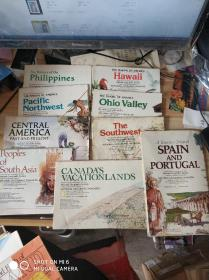 国家地理杂志 地图海报 共24张 部分开裂 大小不等