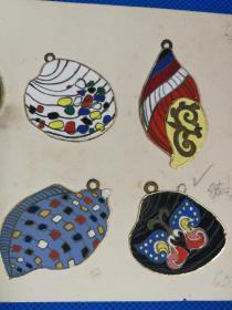 上海徽章厂1979年徽章设计图手稿一册8幅