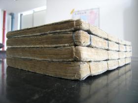 低价出售康熙九年和刻大开本《孟子集注》14卷4巨厚册全(一册顶两册)!字体古拙,金石气息扑面!墨浓如漆,纸白如玉,字大如钱!文wu级的宝贝,识者得···。。。。。。。。。。。。。。,