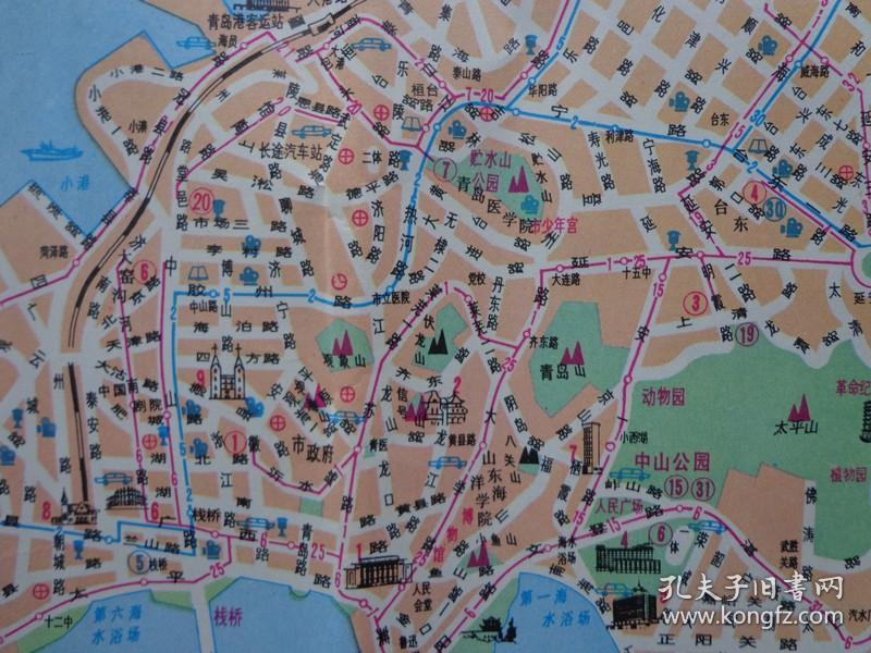 中山公园,动物园导游图 青岛市区,近郊交通游览图 青岛市郊交通路线图