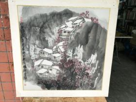 朱常棣 山水画 (2张合售)