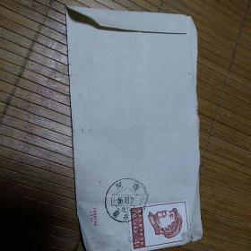文革实寄封:贴文4祝毛主席万寿无疆邮票,品如图