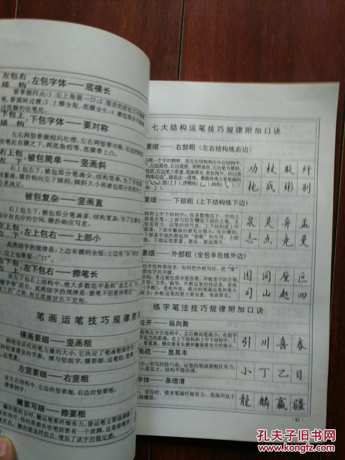 李天生硬笔书法口诀图片