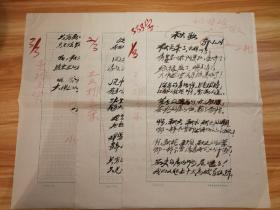 【4-3】著名诗人【郭小川】《秋歌》毛笔书写诗稿,出版社(或杂志社)出版底稿,有朱笔批改,使用中国戏剧家协会研究室稿纸(8开),共3页!