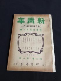 新青年第三卷第六号陈独秀先生主撰,民国旧书,民国期刊,共产党旧刊,博物馆资料