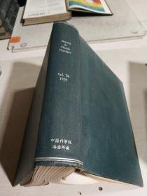 JOURNAL DE CHIMIE PHYSIQUE.Vol.56.1959(物理化学杂志 )(法语)