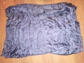 清代深蓝色书画装裱用丝织物一条(长约340厘米,宽约64厘米)