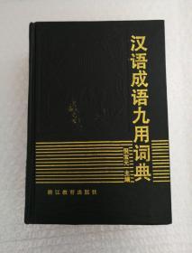 汉语成语九用词典(馆藏书)