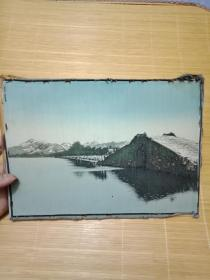 民国 上海启文美术 丝织厂作品--西湖十景之《 断桥残雪》 尺寸为27*19cm----品如图---可议价