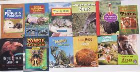 儿童动物百科知识英文版 薄平装本 12本一套56元包邮