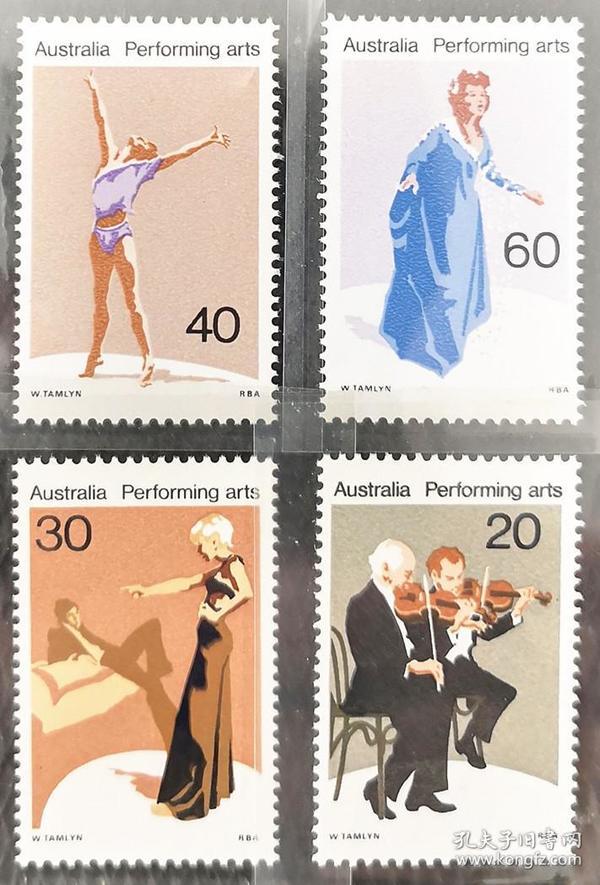 澳大利亚1977年  歌剧舞蹈表演艺术等4全新实拍