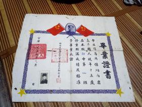 1953年长沙市第八中学毕业证书