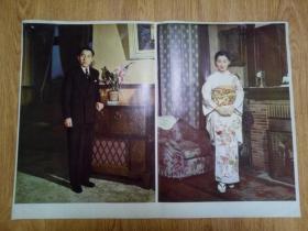 1959年日本印刷《明仁天皇和皇后正田美智子》