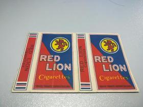 民国烟标:10支卡--红狮(拆包)