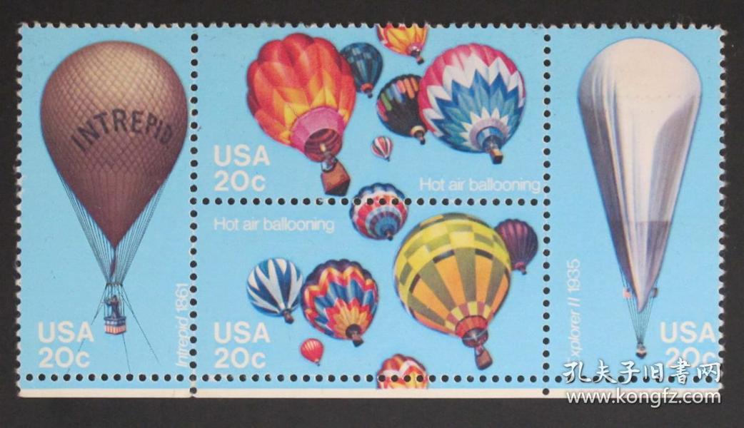 美国邮票-----热气球