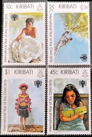 基里巴斯1979年  国际儿童年 4全新 实拍