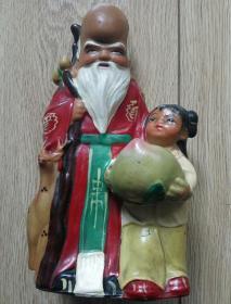 胶皮玩具-老寿星童子抱桃