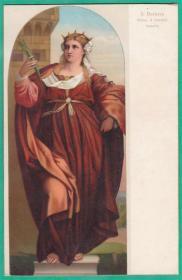德国1911年【画家帕尔马-维齐奥作品_芭贝拉】上色版明信片 欧洲早期绘画上色版明信片