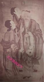 唐代阎立本画《徐茂公寿像》民国大收藏家施德之收藏