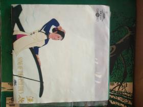 黑胶木老唱片  渔歌(高胡、古筝二重奏)唐毓斌叶申龙演奏 33转小唱片  带封套 封套漂亮 封套和唱片都品极好,全新