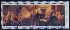 美国邮票-----独立宣言