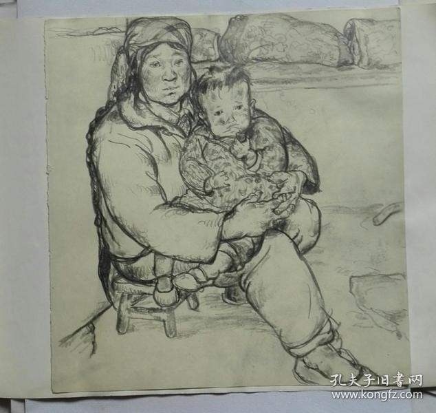 法籍画家中央美院78级画家高天华写生,高天华素描(1980)-人物肖像