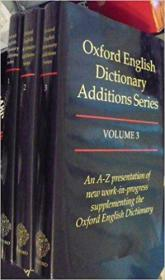 Oxford English Dictionary Additions Series. 3 Volumes