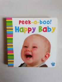peek-a-boo!  happy baby