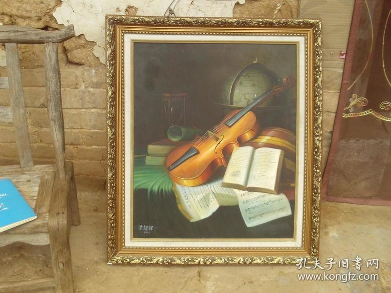 青年油画家---梁耀辉----油画--尺寸为画心尺寸--纯手绘油画作品---精装框--带框邮寄-冷军师弟-保真迹--市价2万以上