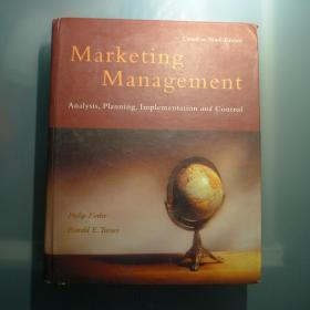 Marketing Management Analysis, Planning, Implementation and Control
