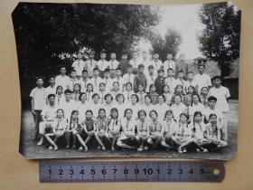 老照片【南京市许府巷小学1965年毕业合影】尺寸:19.4×13.7厘米