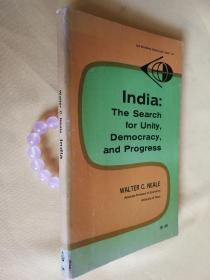 1965年英文原版 印度:寻求团结、民主和进步 India:the search for unity,democracy,and progress