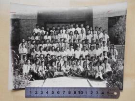 老照片【南京市许府巷小学1957年毕业班师生合影】尺寸:20.4×15.3厘米