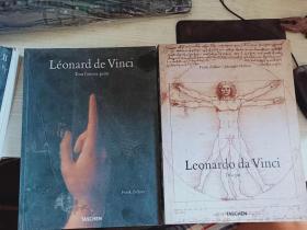 英文版 Leonardo da Vinci 达芬奇手稿作品全集 2本一套