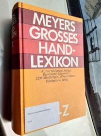 MEYERS GROSSES HAND LEXIKON A--Z 布面精装16开 厚重本