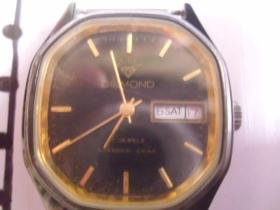 钻石双日历机械老手表