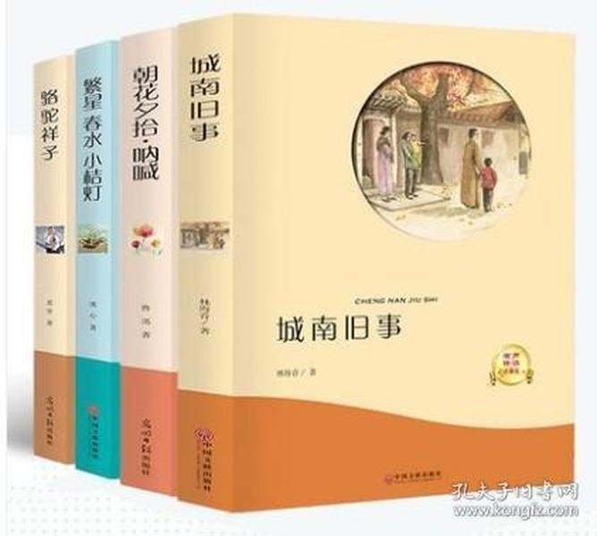 中国文学名著4本【有声伴读】城南旧事 骆驼祥子 冰心繁星春水小桔灯