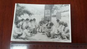 1968舒茶公社人民学习毛主席著作,颗粒型老相纸