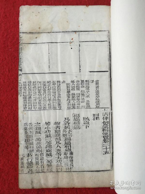 【官版】清刻本-白纸 《大清律例汇辑更览》卷二十五刑律贼盗(下)(共2册)--大开本--字体工整--易读--整书考究