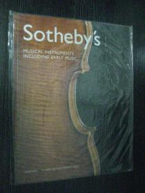 Sothebys 苏富比伦敦2003年11月: MUSICAL INSTRUMENTS INCLUDING EARLY MUSIC