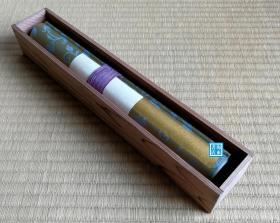 【弘法大师:风信帖】珂罗版复制手卷  审美书院1939年  桐木箱装 空海