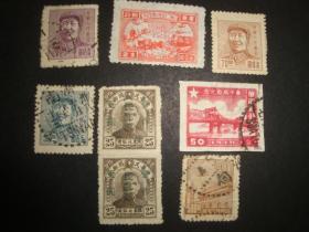 华东区三一版毛主席像3枚信