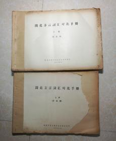 闽北方言词汇对比手册( 上下册 油印本) 讨论稿.