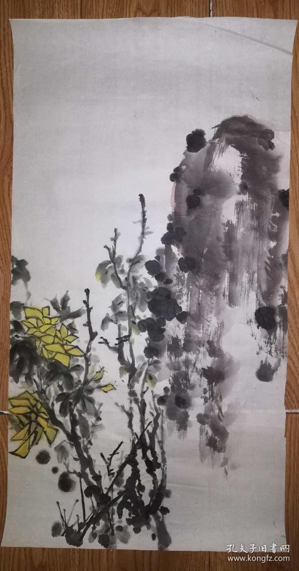 手绘真迹国画:无款20180623-08(80年代老软片)