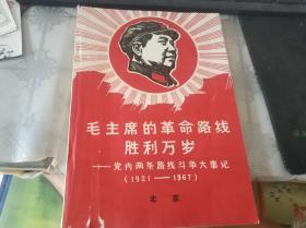毛主席的革命路线胜利万岁-党内两条路线斗争大事记-(1921-1967)