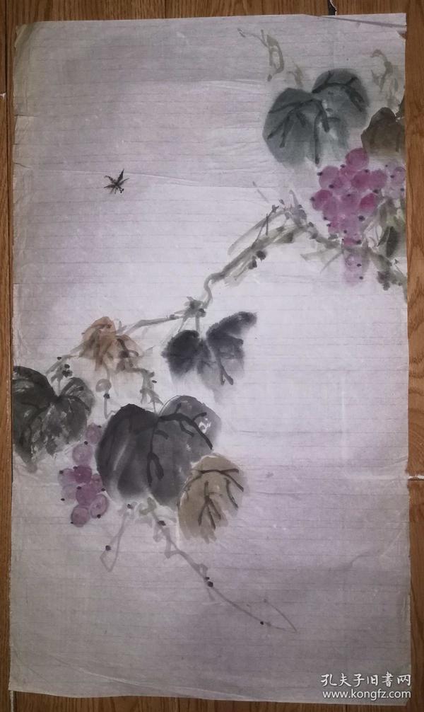 手绘真迹国画:无款20180623-10(80年代老软片)