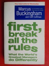 First, Break All the Rules  首先打破所有规则